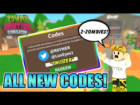All Codes In New Zombie Hunting Simulator Roblox All Codes Zombie Hunting Simulator All Codes Get Money Roblox Youtube