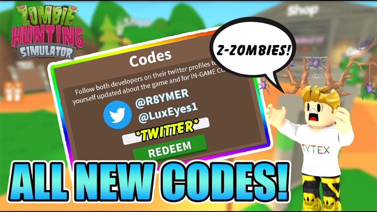 roblox zombie hunting simulator codes
