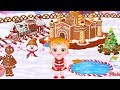 Baby Hazel Gingerbread House - Fun Making Gingerbread House For Kids