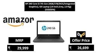 HP 240 Core i3 7th Gen (4GB1TBDOSIntegrated Graphics), G6 Laptop (14-inch,Grey, 2.9 Kg) (5SE65PA)
