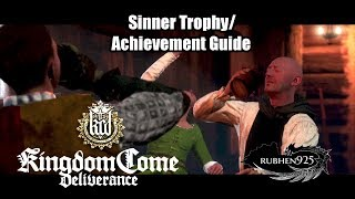 Kingdom Come: Deliverance - Sinner Trophy/Achievement Guide | Get Drunk with Father Godwin