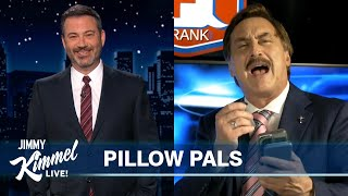 "MyPillow Mike Reacts to Jimmy Kimmel's Monologue & We Play ""Who's High?"""