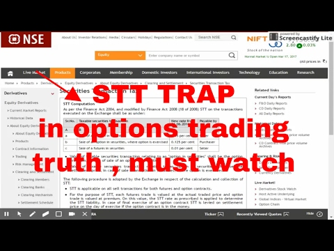 WHAT IS STT TRAP IN OPTIONS TRADING ON EXPIRY DAY OF CONTRACTS.