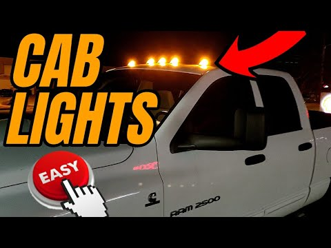 How To Install Cab Lights On Your Dodge Ram 1500/2500/3500