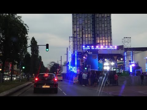 Night Driving in Hamburg City 4K 2018 May