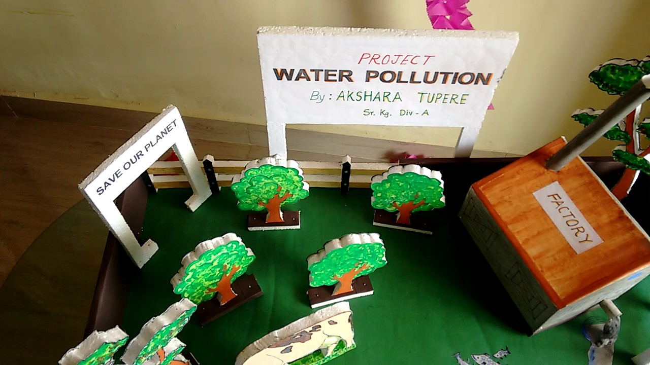 Water pollution project model youtube for How to make different types of house models