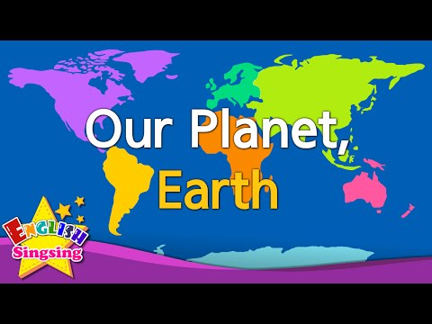 Kids vocabulary - Our Planet, Earth - continents & oceans -
