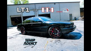 WhipAddict: 96' Impala SS Goes From LT1 to Supercharged LT4 with Suspension Upgrades at Kaotic Speed