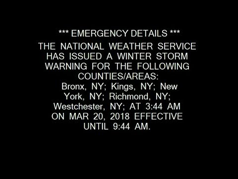 2x Winter Storm Warning: Bosto weather nyc