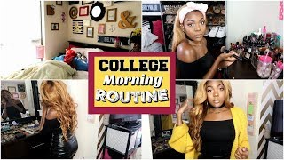 MY COLLEGE MORNING ROUTINE 2018 + GIVEAWAY || BrelynnBarbie