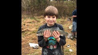 Rainbow Trout fishing video:   Grandkids catch fish