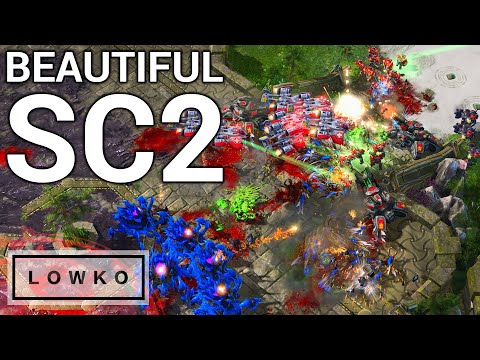 StarCraft 2: BEAUTIFUL STARCRAFT! (Dark vs Cure)