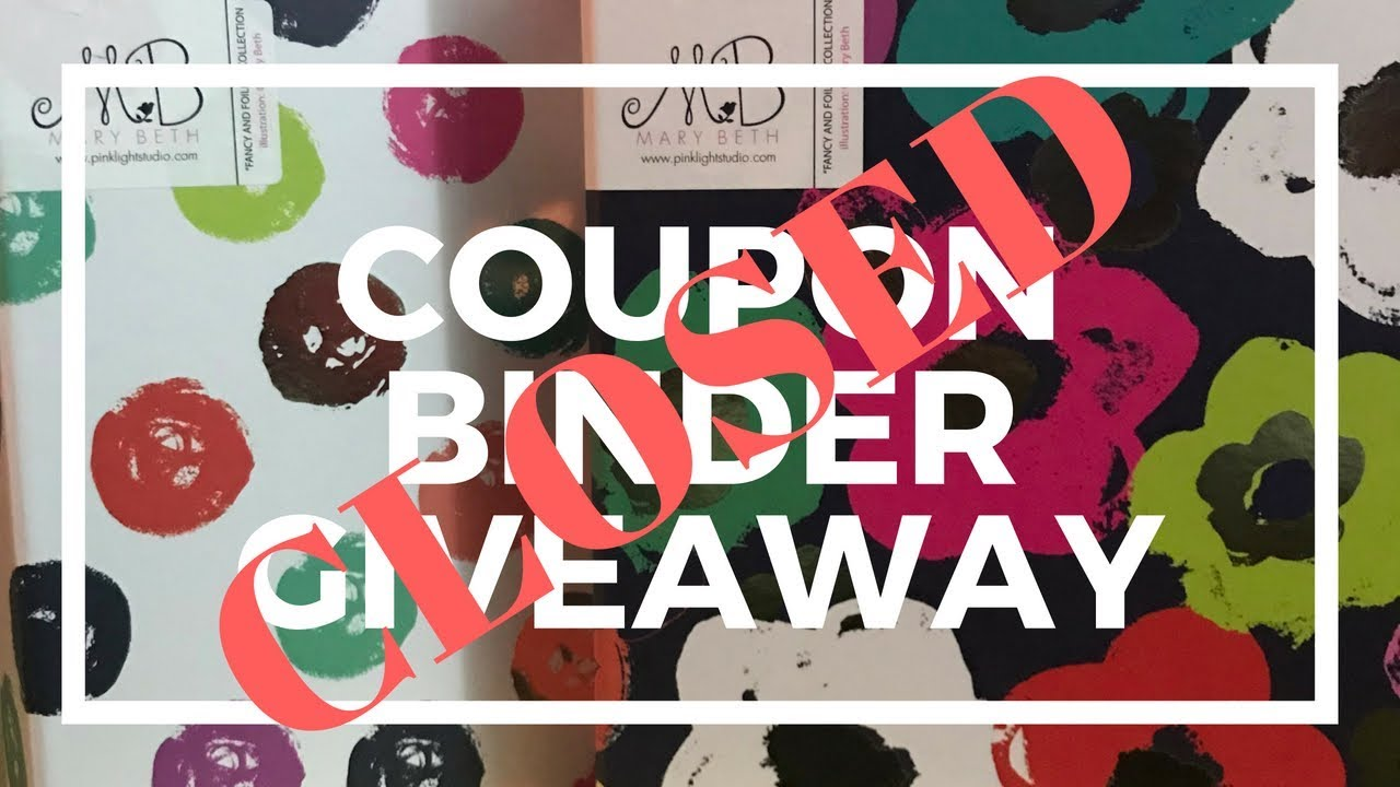 Coupon Binder System || GIVEAWAY-CLOSED || Mary Beth Binders & Mini  Notebooks