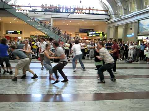 Surprise dancing at Stockholm Central Station