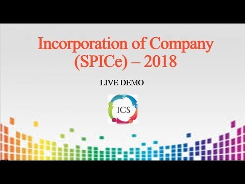 Incorporation of Company - Spice INC-32 (2018)