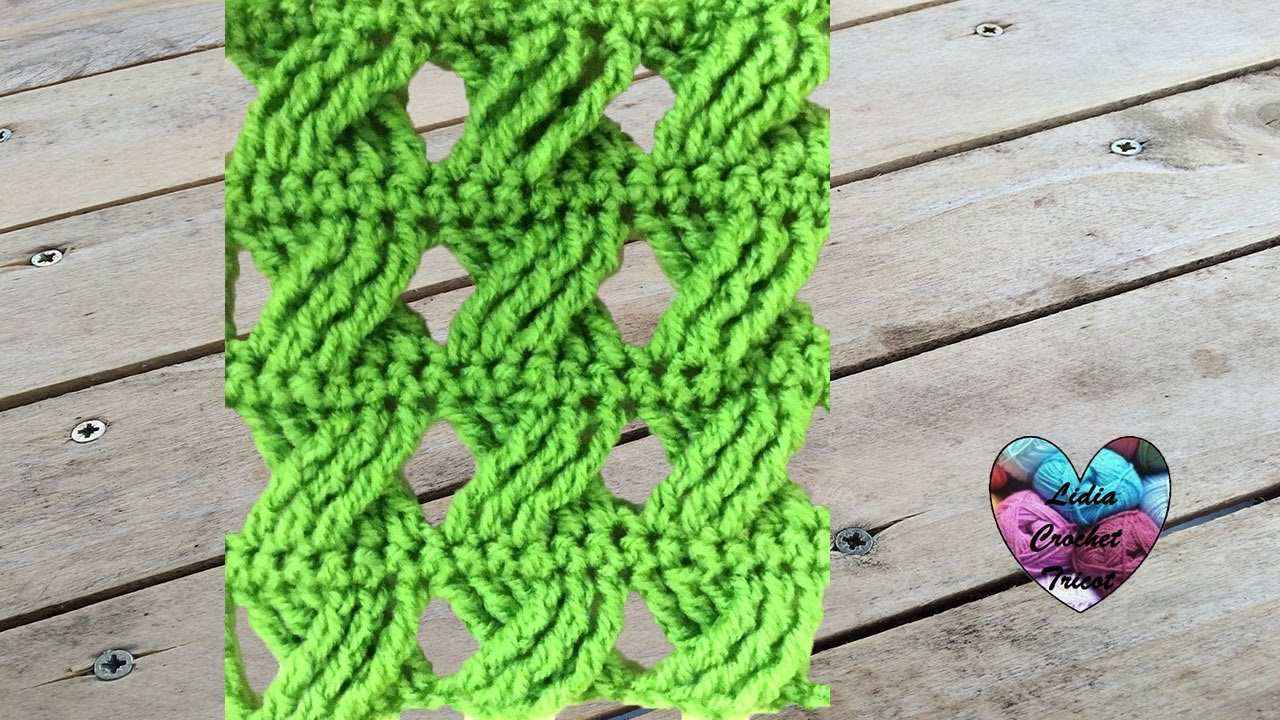crochet point fantaisie tress tr s facile punto fantasia trenzado tejido a crochet youtube. Black Bedroom Furniture Sets. Home Design Ideas