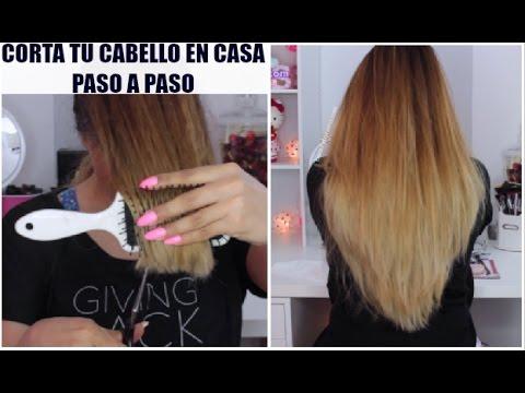 Como Cortar El Pelo En Capas Tu Misma Paso A Paso Beautybynena Youtube