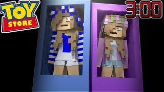 DO NOT STAY IN THE TOYSTORE AT 3:00 AM w/Little Kelly (Minecraft ToyStore)