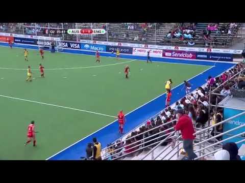 Australia vs England   Women's Hockey Champions Trophy 2014 Argentina Group A 29 11 2014