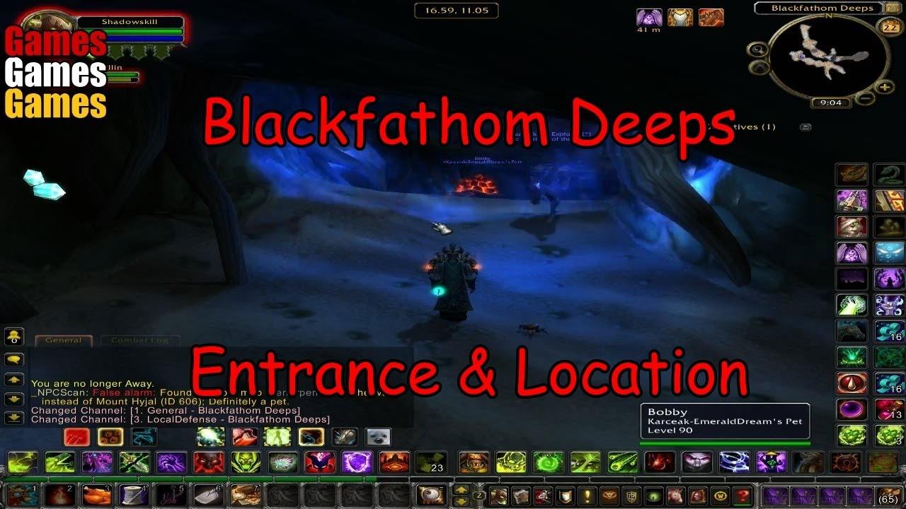blackfathom deeps entrance location world of warcraft original dungeons youtube. Black Bedroom Furniture Sets. Home Design Ideas