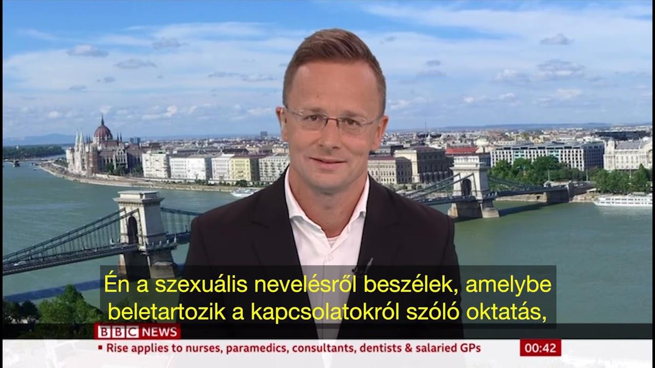 Szijjártó Péter kemény szócsatája a BBC riporterével