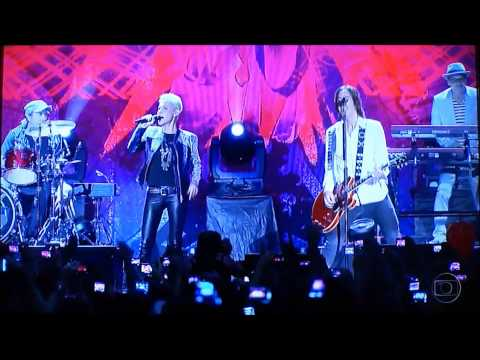 Local TV news (NETV) from Recife about Roxette show at the town last night
