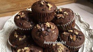 Muzlu çikolatalı puf muffinler