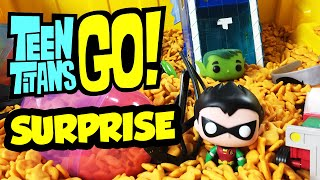 TEEN TITANS GO! Surprise Toys & Surprise Eggs Dump Truck + Gold Fish Teen Titans Go! Surprise Toys