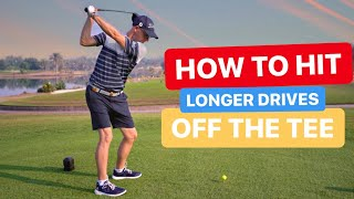 HOW TO HIT LONGER DRIVES OFF THE TEE GOLF LESSON