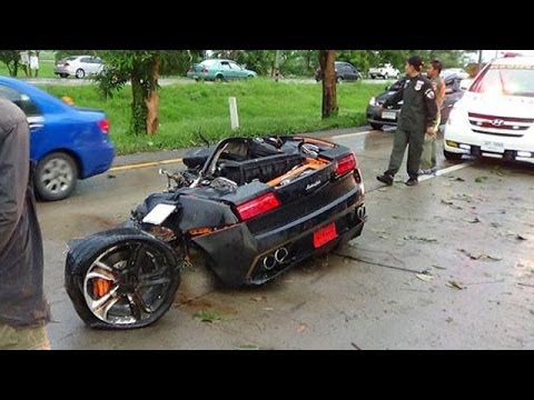Lamborghini Gallardo Split In Two Halves After Crash In Bangkok