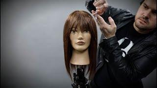 How To Cut Curtain Bangs Hair Tutorial   MATT BECK VLOG SEASON 2 EPISODE 8