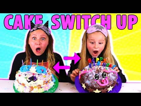 MYSTERY BOX BIRTHDAY CAKE SWITCH UP CHALLENGE!!