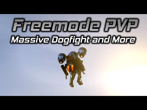 GTA Online Freemode PVP: Massive Dogfight, Jetpack Takedowns, and More (1/2)