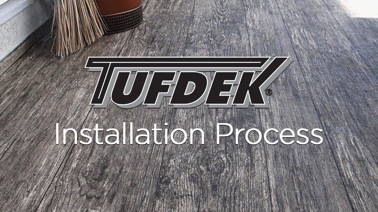 Tufdek Waterproof Vinyl Decking  Installation Process  YouTube