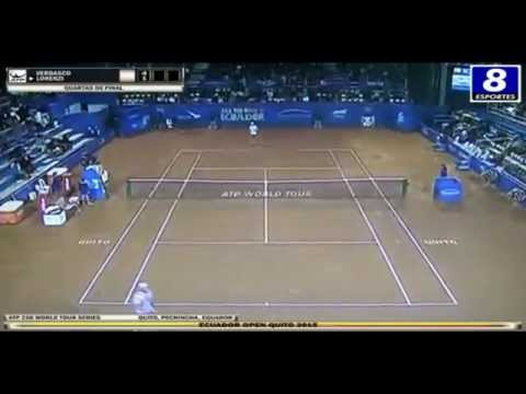 Fernando Verdasco v Paolo Lorenzi - ATP 250 Quito 2015 - 1/4 Final (Set 1)