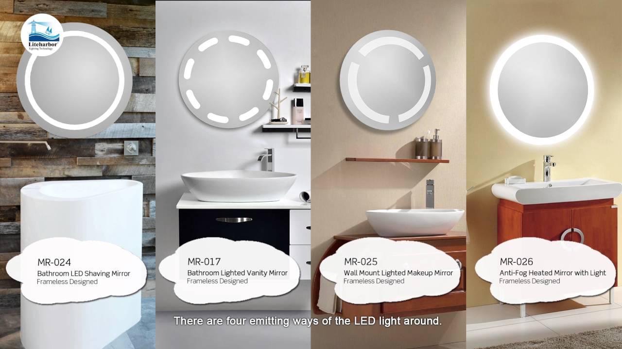 Liteharbor Lighting LED Illuminated Mirror with Light or Cabinet or ...
