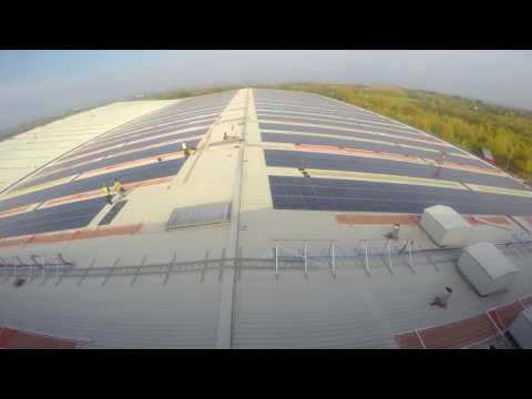 Solar PV Installation Time Lapse - UK's 4th Largest Rooftop