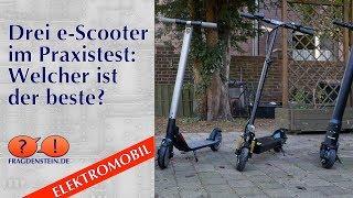 Drei e-Scooter im Praxistest: Welcher ist der beste?