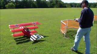 Brian Ward flies this vintage old WWI bird at the Pittsfield, IL Fu...