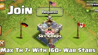 "Clash Of Clans | New War Clan ""Sky Corps"" 