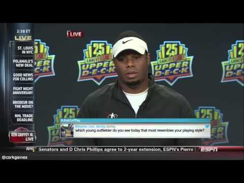 c8418e10ad Ken Griffey Jr awkward interview on ESPN [the highlights] - YouTube