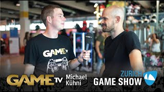 Game TV Schweiz - Interview mit Michael Kühni | VR-Künstler / Illustrator (Zürich Game Show)