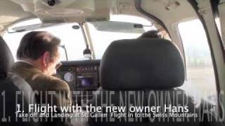Piper Seneca II PA34-200T Ferry from UK and first Flight in Switzerland