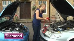 Jumpstarting your car - Diamond car insurance. shaped for you.