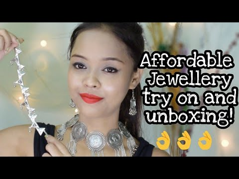 AFFORDABLE JEWELLERY TRY ON AND UNBOXING || THE HOUSE OF PANDORA SUBSCRIPTION BOX || INDIA