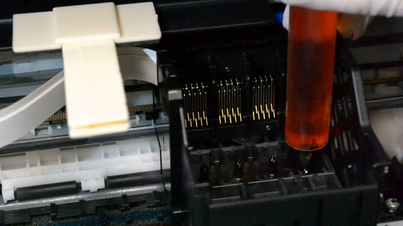 Как снять печатающую головку на принтере Epson photo 1410 - YouTube
