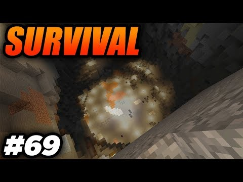 WORKING ON THE VOLCANO AND KILLING THE ENDERDRAGON AGAIN! - Minecraft Survival: Episode 69