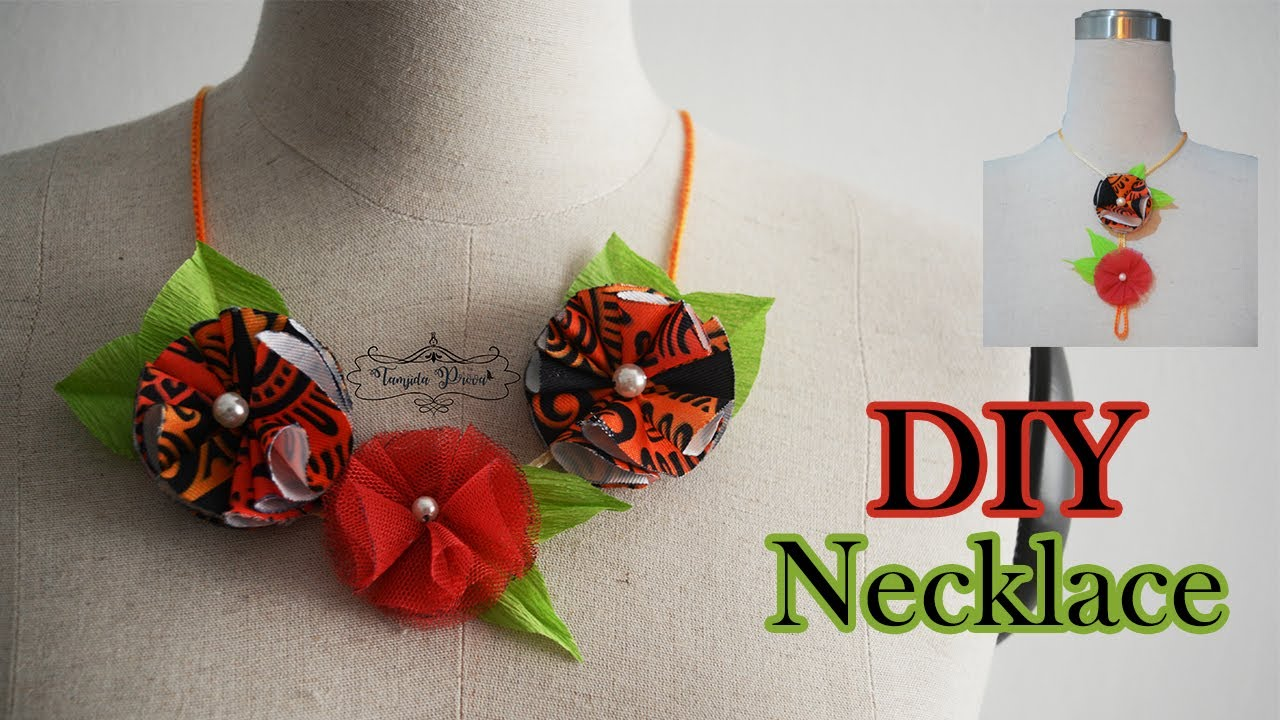 DIY Fabric Flower and Necklace || Make Fabric Flower #WithMe