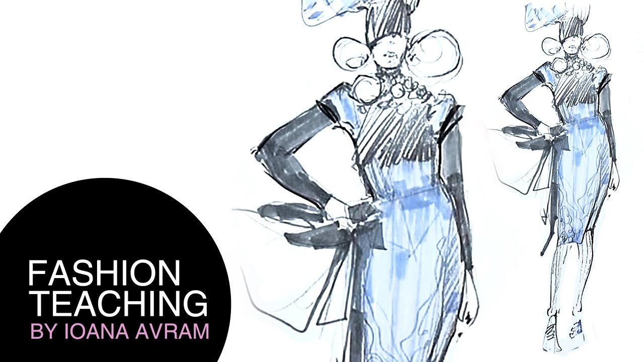 how to draw a fashion sketch step by step for beginners