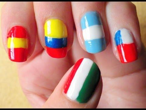 Uñas Banderas Flags Nails Youtube